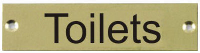 Engraved Brass Toilets Door Sign