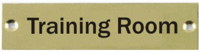 Engraved Brass Training Room Door Sign
