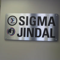 Dibond sign with Vinyl Graphics