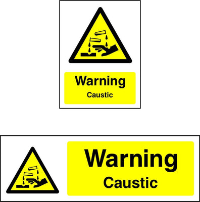 Warning Caustic Sign