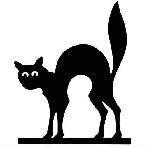 Silhouette Cat Vinyl Graphic