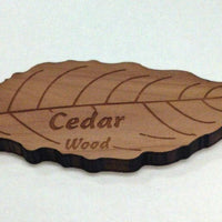 Engraved Wooden Leaf on Cedar Veneer