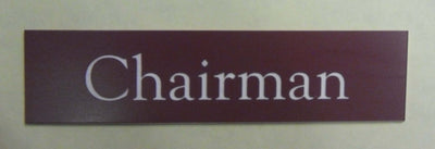 Engraved Acrylic Laminate Chairman Door Sign