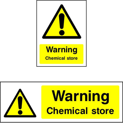 Warning Chemical Store Sign
