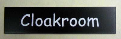 Engraved Acrylic Laminate Cloakroom Door Sign