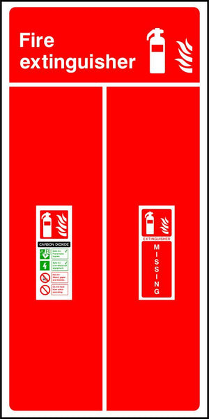 CO2 Fire Extinguisher Missing sign
