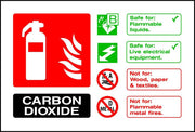 Carbon Dioxide Fire Extinguisher Notice sign