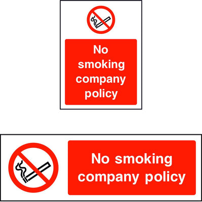 No smoking company policy sign