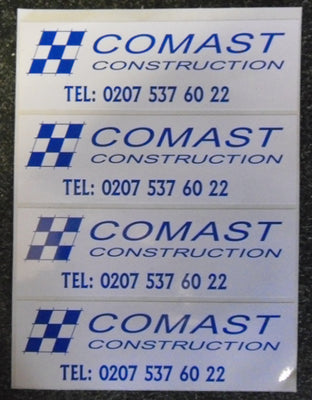 100mm x 50mm Rectangular Printed Labels
