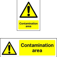 Contamination Area Warning safety sign
