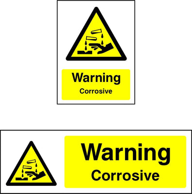 Warning Corrosive Sign