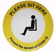 Coronavirus Sit here removable vinyl desk sign