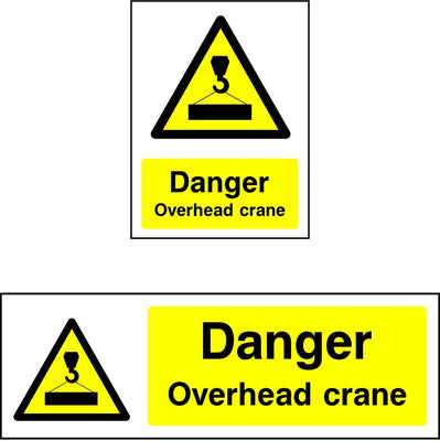 Danger Overhead Crane safety sign