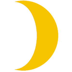 Crescent Moon Self Adhesive Vinyl Graphic