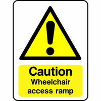 Caution Wheelchair Access Ramp sign