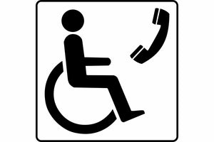 Disabled telephone sign