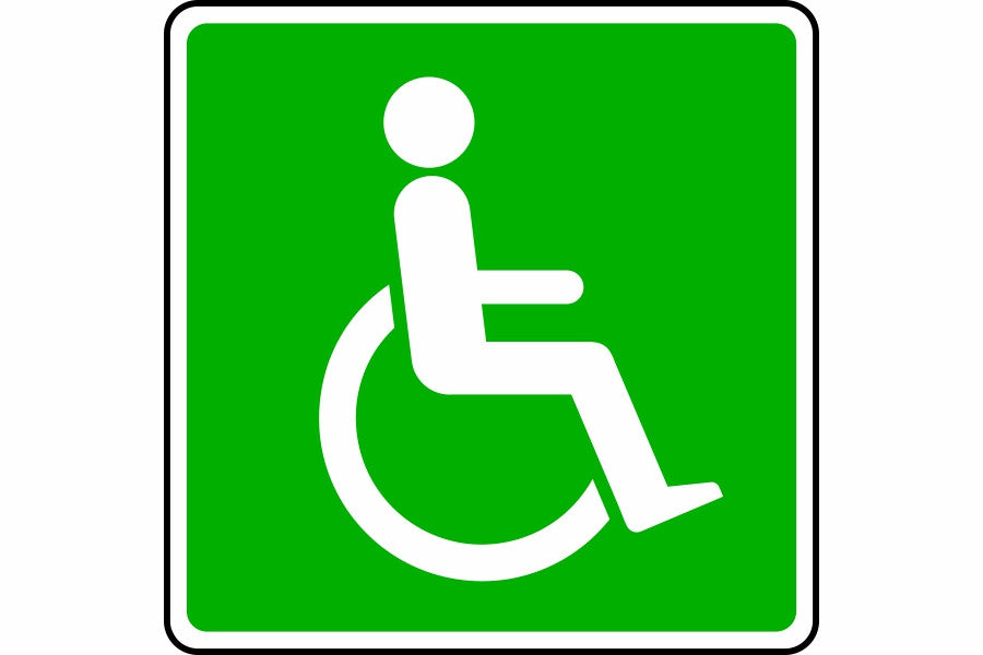 Wheelchair symbol sign