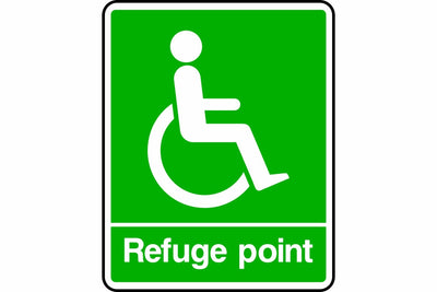 Disabled refuge point sign