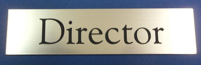 Engraved Acrylic Laminate Director Door Sign
