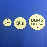 25mm to 50mm engraved laminate discs