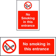 No smoking in this entrance safety sign