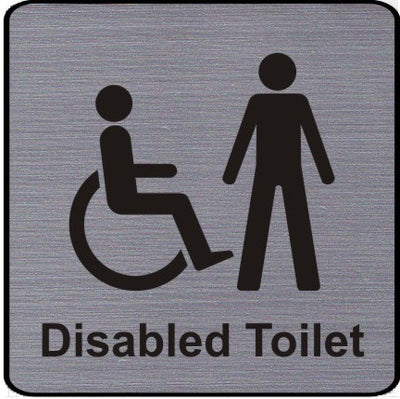 Mens Disabled Toilet Sign