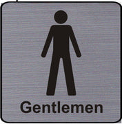 Engraved Gentlemen Toilet Symbol Sign