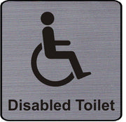 Engraved Disabled Toilet Symbol Sign