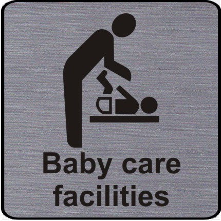 Engraved Baby Care Facilities Symbol Sign
