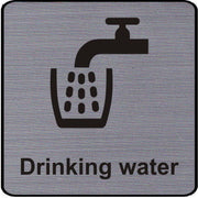 Engraved Drinking Water Symbol Sign