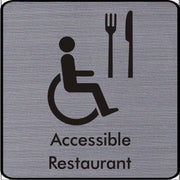 Engraved Accesible Restaurant Symbol Sign