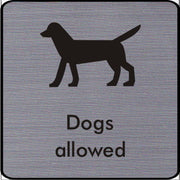 Engraved Dogs Allowed Symbol Sign