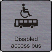 Engraved Disabled access bus symbol sign