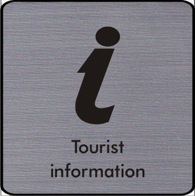Engraved Tourist information symbol sign