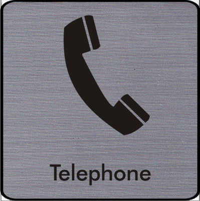 Engraved Telephone symbol sign