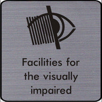 Engraved Facilities for the visually impaired symbol sign