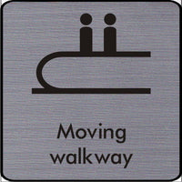 Engraved Moving Walkway symbol sign