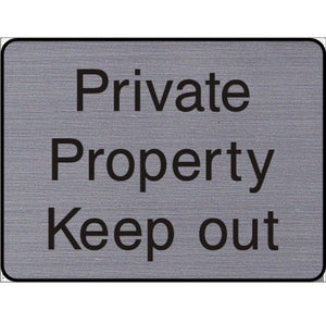 Engraved Private Property Keep Out sign