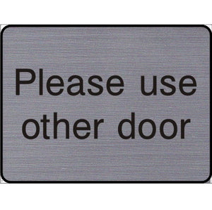 Engraved Please use other door sign
