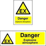 Danger Explosive Atmosphere (EX) Sign