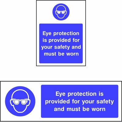 Eye Protection Must Be Worn When Operating This Machine safety sign