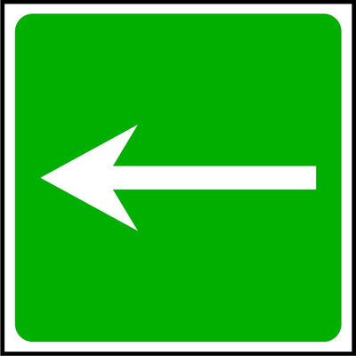 First Aid Arrow Sign