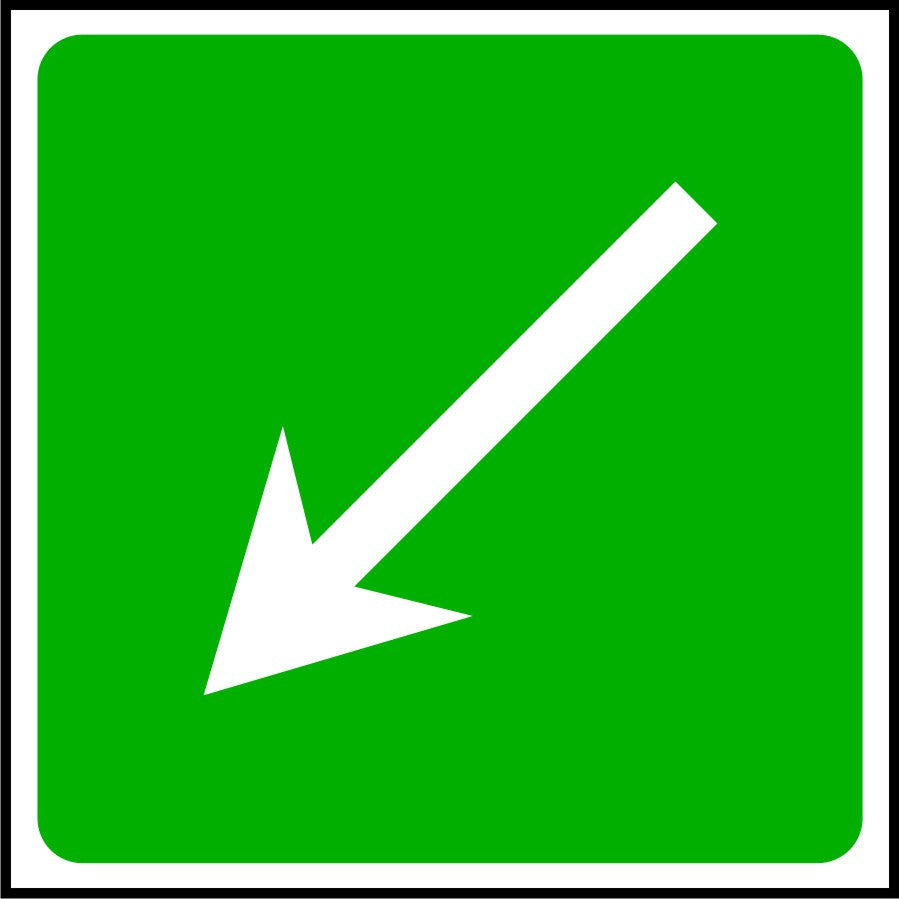 First Aid Diagonal Arrow sign