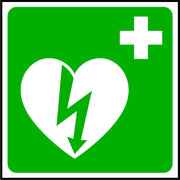 Defibrillator symbol first aid sign