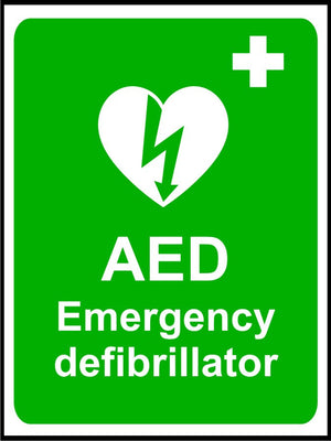 AED Emergency Defibrillator safety sign