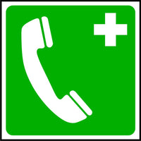 Emergency Telephone symbol first aid sign