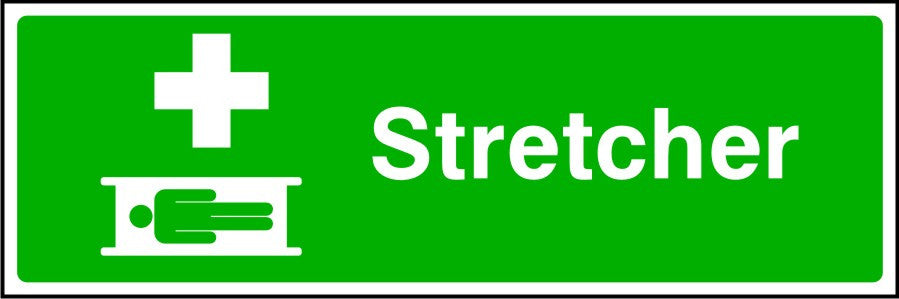 Stretcher First Aid safety sign