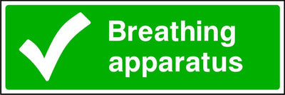 Breathing Apparatus first aid safety sign
