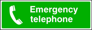 Emergency Telephone first aid safety sign