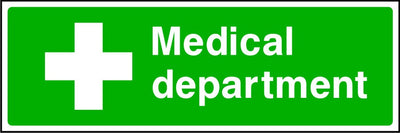 Medical Department first aid safety sign